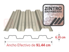 Losacero 25 de Acabado Galvanizado Zintro
